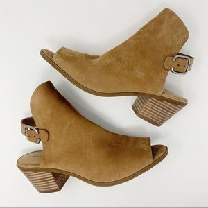 Lucky Brand Tan Leather Open Toe Slingbacks Sz 8.5